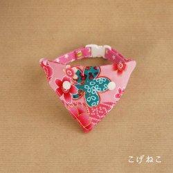 散らし桜の<br>バンダナ(桜色)