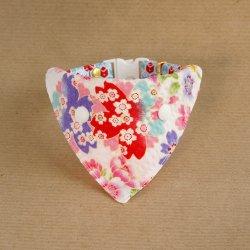 浴衣みたいな桜の<br>バンダナ(白)