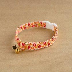 キューブボックスの首輪<br>(橙×赤)