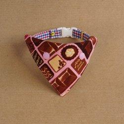 美味しそうなチョコレートの<br>バンダナ(ピンク)