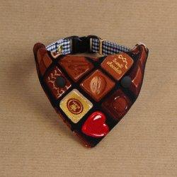 美味しそうなチョコレートの<br>バンダナ(ブラック)