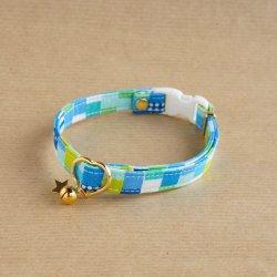 ダイス風の首輪(ブルー)