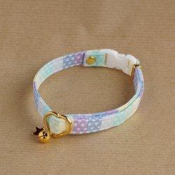 レインボーなハートの首輪(ブルー)
