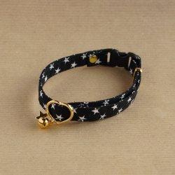 星柄の首輪<br>(ブラック)