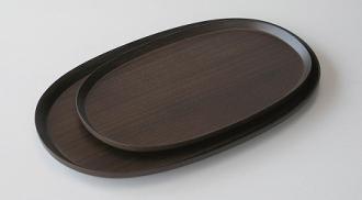 トレイ/楕円形 #612/613 oval(dark brown)
