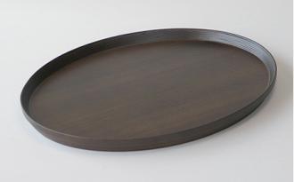 トレイ/楕円形 #614 oval(dark brown)