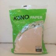 【KONO(コーノ)】 ペーパーフィルター2人用・ブラウン・MD25EB (100枚入り)