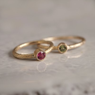 Birthstone baby ring