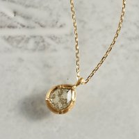 K18 Rose cut diamond pendant