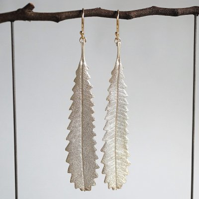 Banksia leaf earrings