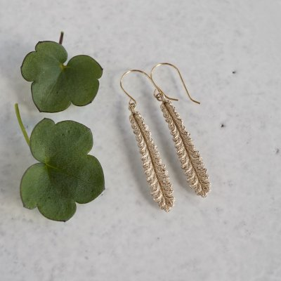 Lavender leaf earrings