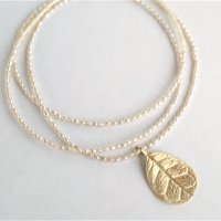 Feijoa leaf necklace (middle)