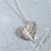 Feijoa leaf  necklace  (heart)