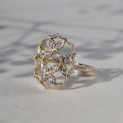 4 petal flower ring �