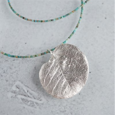 Eucalyptus leaf necklace