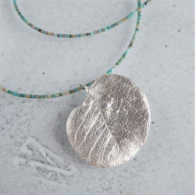 Eucalyptus leaf necklace
