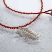 Elm leaf necklace