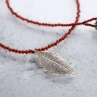 Elm leaf necklace