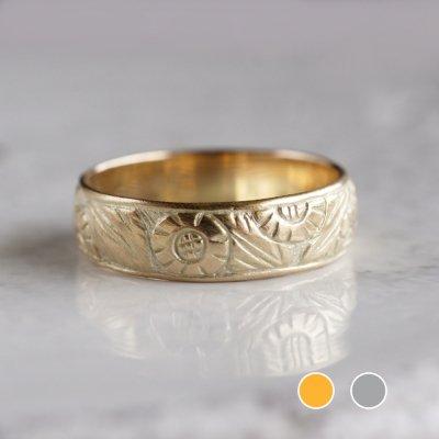 K18 Sunflower ring