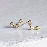 Stardust 3stones earrings