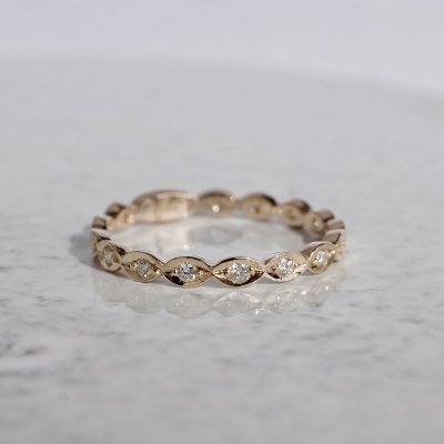 Marquis eternity ring K10/K18YG