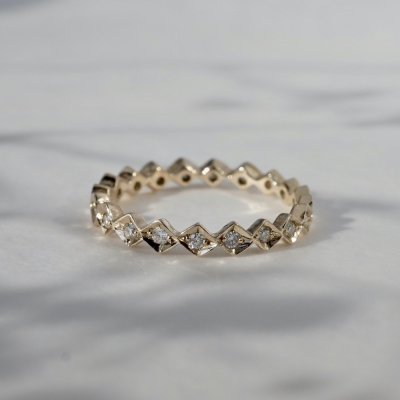 Eternity ring K10/K18YG