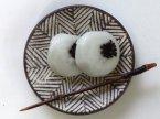 池田大介 三島手ヘリンボーン(白)まめ皿