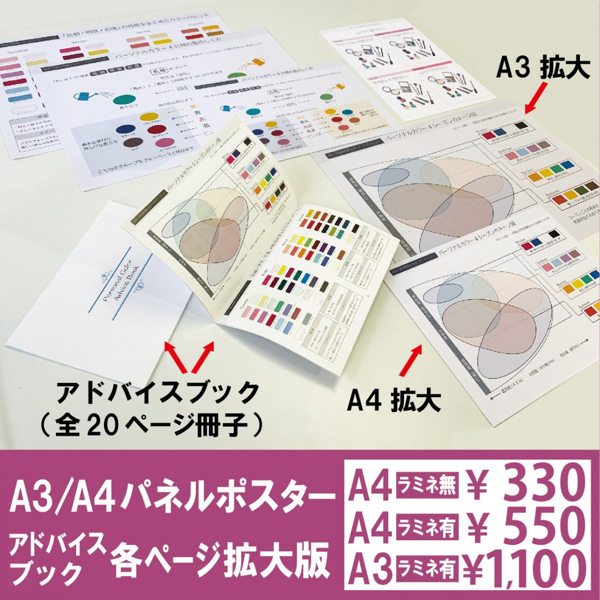 A4/A3パネルポスター・アドバイスブック各ページ拡大版<img class='new_mark_img2' src='https://img.shop-pro.jp/img/new/icons1.gif' style='border:none;display:inline;margin:0px;padding:0px;width:auto;' />