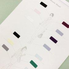 ファッションカラーコーディネートシート【お買得24枚セット】(Bタイプ・枠表示なし)