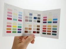 パーソナルカラーお渡しツール・3つ折カラーパレット【オフセット印刷版】