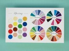 名刺サイズお渡しツール:セレクションカード・色相環