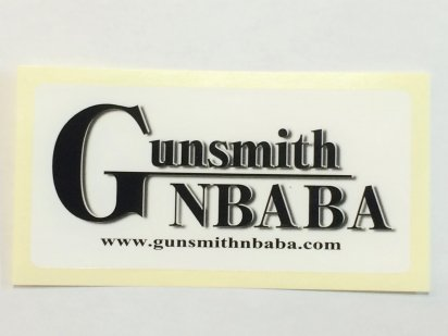 GunsmithNBABAのステッカー( White )の商品画像