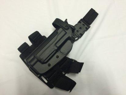 BladeTech:WRS LEVEL II DUTY HOOLSTER-Thigh Rig Black-FNH FNX 45 TACTICAL BLACK LEFTの商品画像