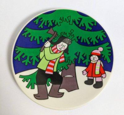 アラビアクリスマス ミニプレート Julkort 1979 Motiv4 1979年