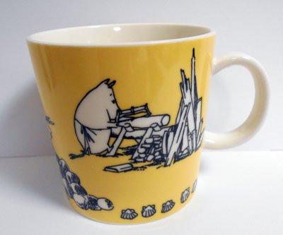 廃盤 アラビア ムーミンマグ Yellow イエロー 1990-1996年