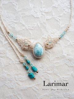 ラリマー(ドミニカ共和国産)/チョーカーネックレス&ヘッドドレス