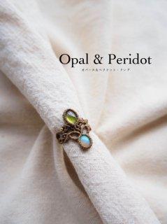ペリドット&オパール(エチオピア産)/リング