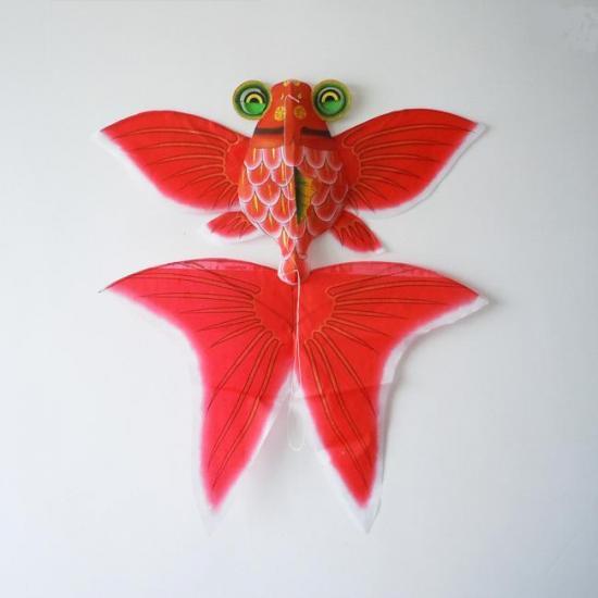 中華凧(2尾金魚凧・赤)