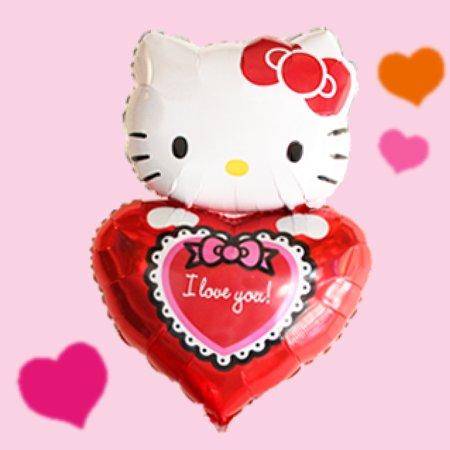 [バルーン][電報][結婚式][キティ][送料無料][ハローキティ]キティ ラビンハート 人気のバルーンギフト