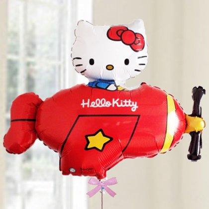 [バルーン][電報][結婚式][キティ][送料無料][ハローキティ] 飛行機キティ  人気のバルーンギフト