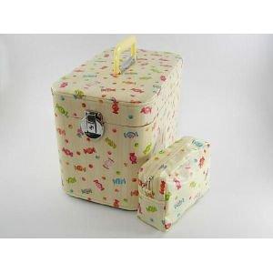 コスメボックス、キャンディー33cmクリーム お化粧入れ 、メークボックス。日本製。