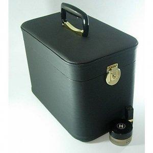 メイクアップボックス、コスメボックス 水シボ33cmブラック 化粧入れ、メークボックス