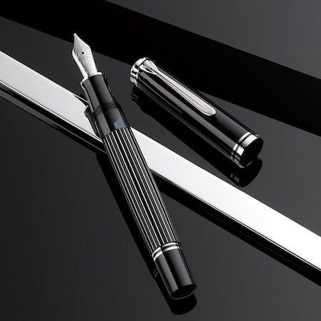 ペリカン 万年筆 特別生産品 スーベレーン815 M815 メタルストライプ 創業180周年モデルメインイメージ