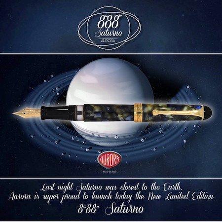 アウロラ 万年筆 88 サトゥルノ(土星)限定生産品 Aurora Limited Edition 88 Saturno Founrainpen03