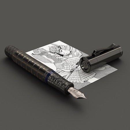 ファーバーカステル 万年筆 限定品 ペン・オブ・ザ・イヤー 2019 侍 サムライ ブラックメインイメージ