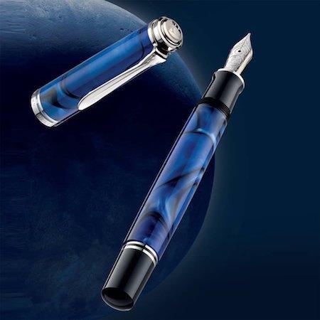 ペリカン 万年筆 特別生産品 スーベレーンM805 ブルーデューン Blue Dunas 04