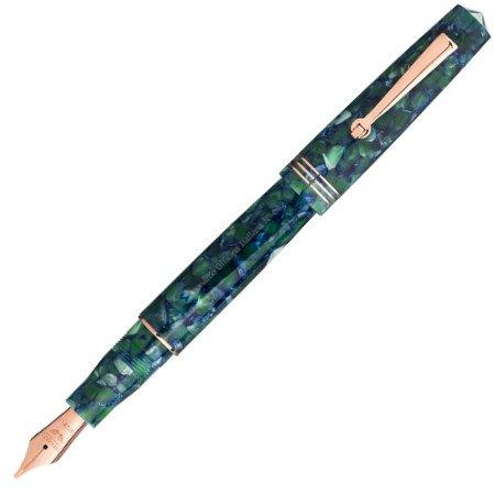 レオナルド 万年筆 モーメント ゼロ グリーンブルー ローズゴールドトリム 14金ニブメインイメージ