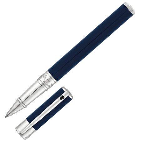 デュポン ローラーボール D-イニシャル ブルー&クローム 26220503