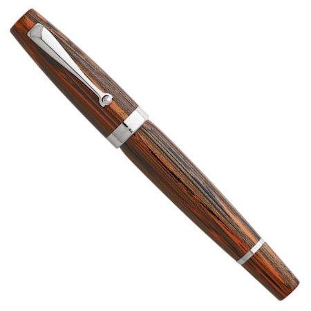 モンテグラッパ 万年筆 特別生産品 ミヤ エボナイト ブリックレッド 18金ニブ04