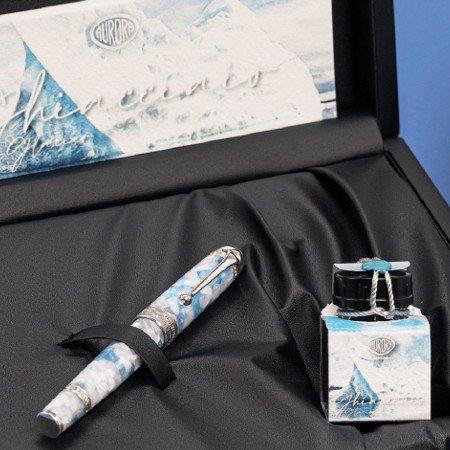 アウロラ 万年筆 限定品 アンビエンティ  ギアッチャイオ(氷河) Aurora Ambienti Glacier 03